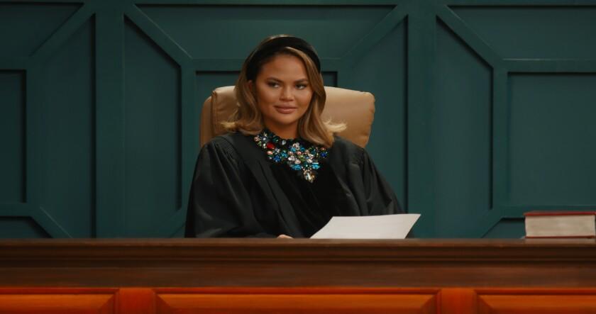 "Chrissy Teigen in the Quibi series ""Chrissy's Court."""