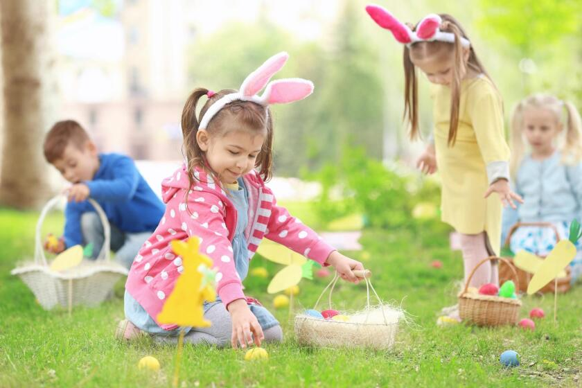 REC CENTER EGG HUNT: 11 a.m. to 2 p.m. Saturday, April 13 at PB Rec Center, 1405 Diamond St. Family-friendly activities include egg hunt, music, games, crafts, prizes and pictures with the Bunny. $5. Start times: 11:30 a.m. ages 0-1; noon ages 2-3; 12:30 p.m. ages 4-5; 1 p.m. ages 6-7; 1:30 p.m. ages 8-12. (858) 581-9927. sandiego.gov