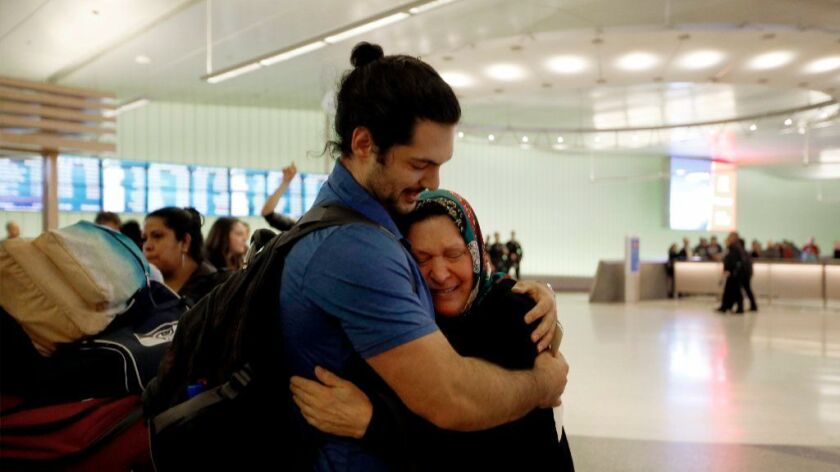 Man reunited with grandmother after she was detained at LAX