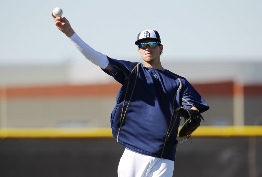 Wil Myers will return to first base to start the season for the Padres. (K.C. Alfred)