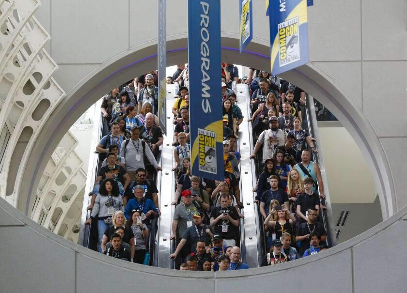 Crowd inside the Comic-Con 2019