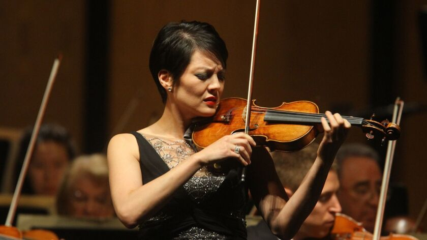 Violinist Anne Akiko Meyers will perform with Pacific Symphony.