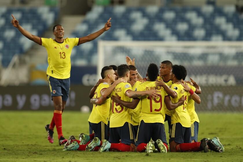 Los jugadores de Colombia
