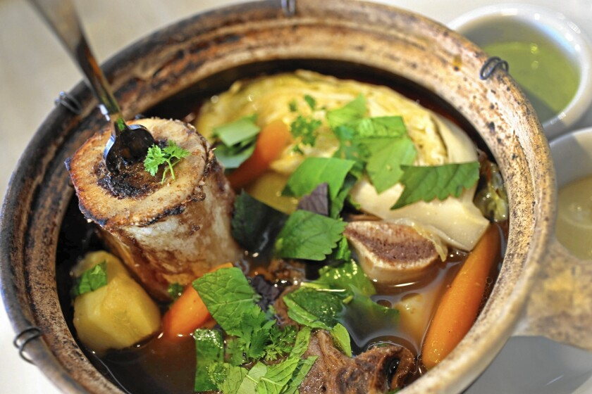 At Cassia in Santa Monica, chef Bryant Ng's pot-au-feu is a standout dish.