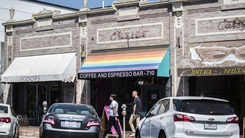 EAST HOLLYWOOD CA AUGUST 31, 2018 -- Cuties Coffee, LA's only queer-focused coffee shop, is strugg