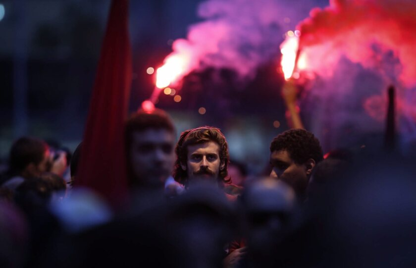 Rousseff protest