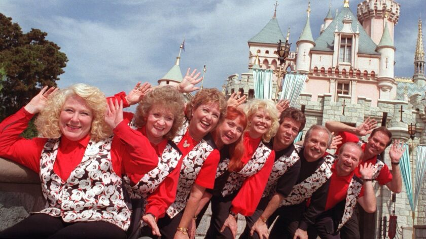 ME.Mickey.Mouseketeers2.KH.10/6/95.Some of the original Mouseketeers reunite at Disneyland (left to