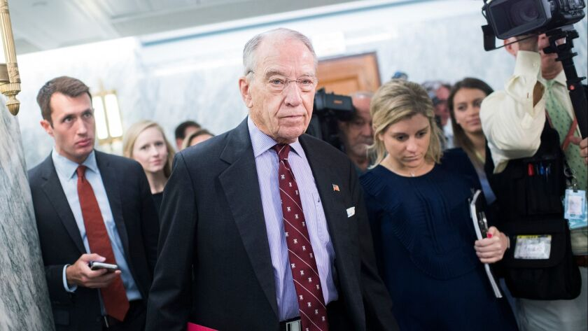 Senate Judiciary Committee Chairman Charles Grassley (R-Iowa).