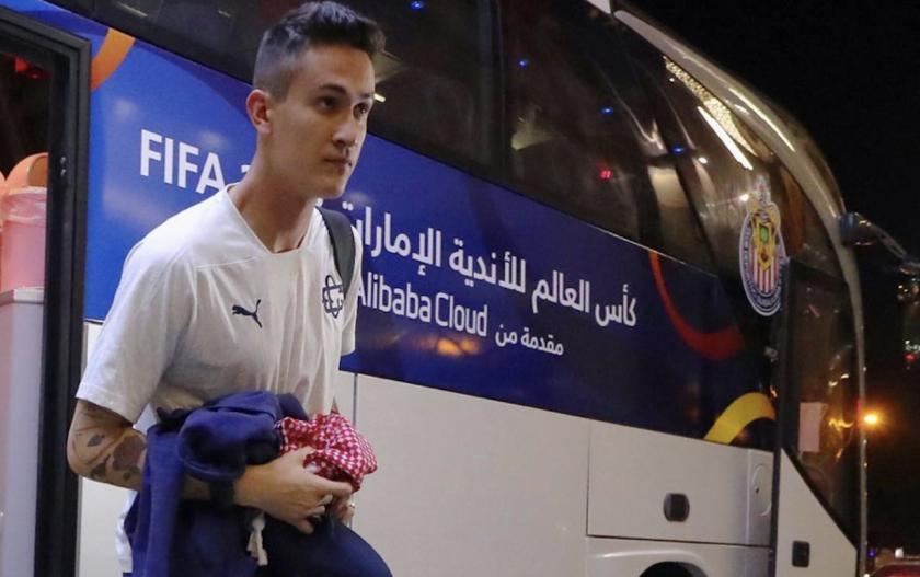 El portero Raúl Gudiño fue uno de los que aprovecharon la estancia en Emiratos Árabes Unidos para irse de vacaciones luego del fiasco en el Mundial de Clubes.