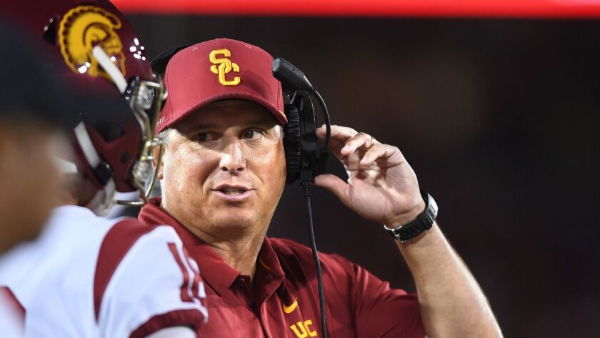 Clay Helton says he plans to be the USC football coach for a long time.
