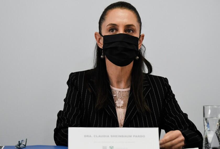 Claudia Sheinbaum, durante una rueda de prensa en Ciudad de México