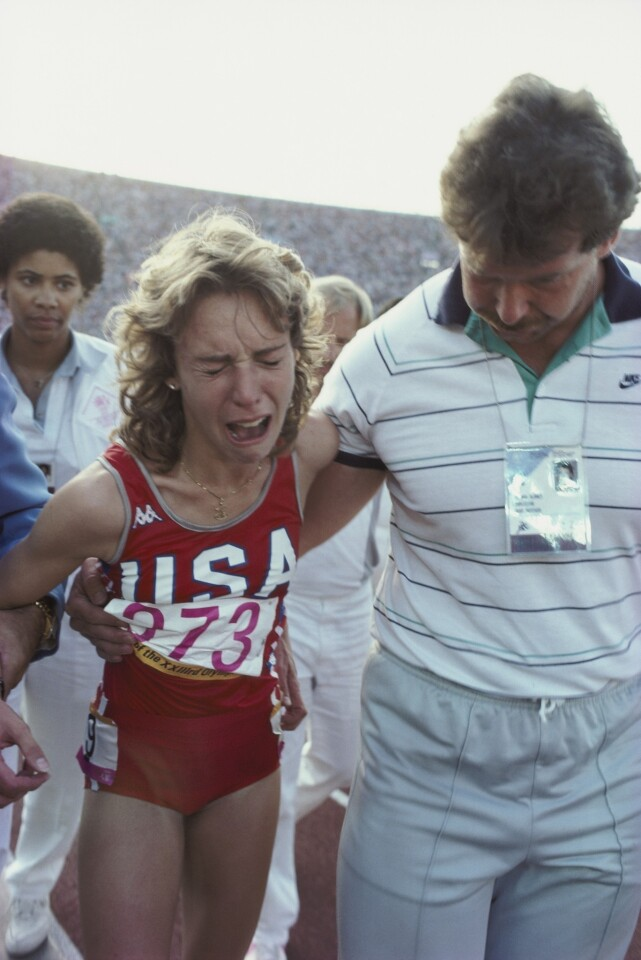 Decker vs. Zola Budd was one of the most anticipated showdowns of those Games. Decker fell. Fergie was wrong: Big girls do cry.