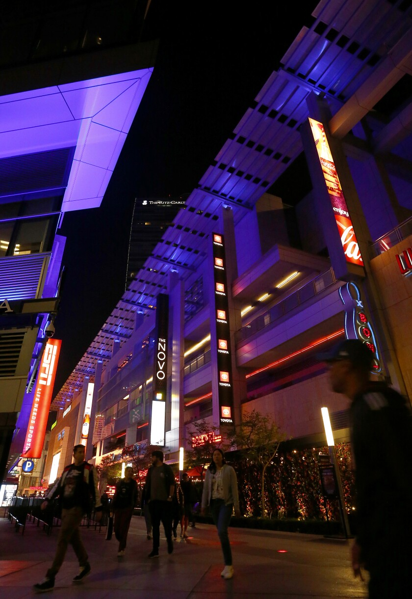 Here are some soft landing spots at L.A. Live.