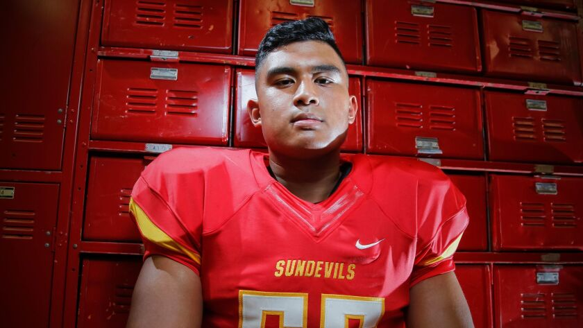 SAN DIEGO, CA August 2nd, 2017 | Mt. Carmel High School defensive lineman Sean Singh poses for photo