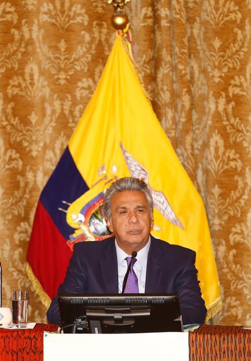 El presidente de Ecuador, Lenín Moreno, completó hoy la renovación de la cúpula diplomática en Washington con la presentación de credenciales del nuevo embajador ante la Casa Blanca, Francisco Carrión Mena. EFE/ARCHIVO