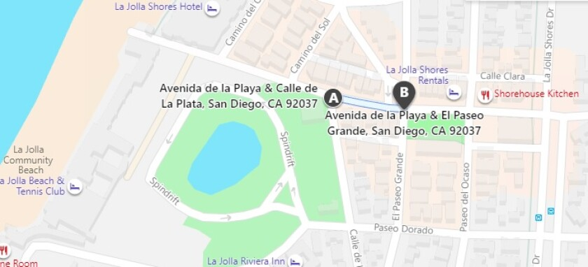 Avenida de la Playa between El Paseo Grande and Calle de la Plata will be closed to allow outdoor dining July 22 to Sept. 27.