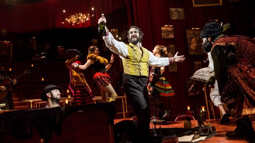 "Josh Groban in ""Natasha, Pierre & the Great Comet of 1812,"" which seats audience members at cafe tab"
