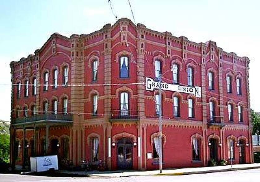 The Grand Union Hotel in Fort Benton, Mont., built in 1882, harks back to the upper Missouri River's steamship era.