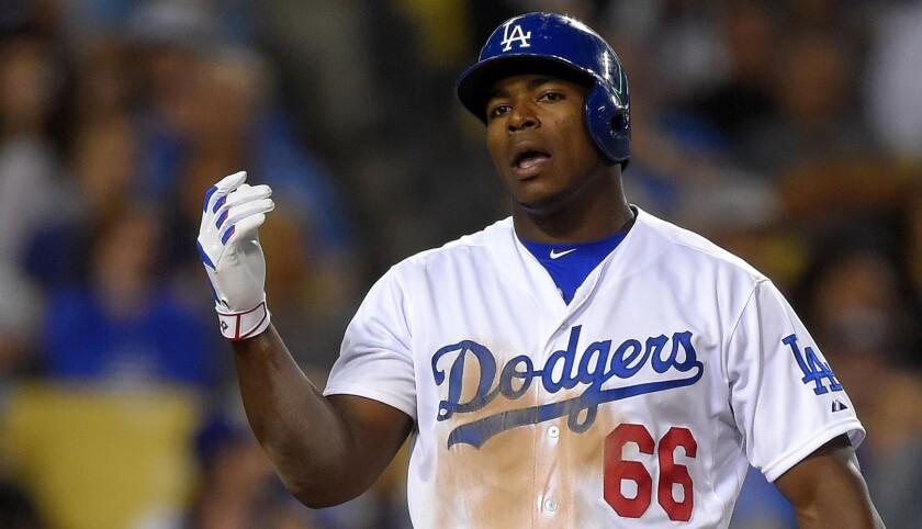 El cubano Yasiel Puig no hizo nada por los Dodgers: se fue de 3-0.