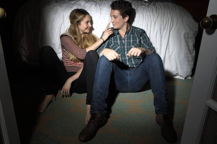 """Shailene Woodley and Miles Teller star in the """"Spectacular Now."""""""