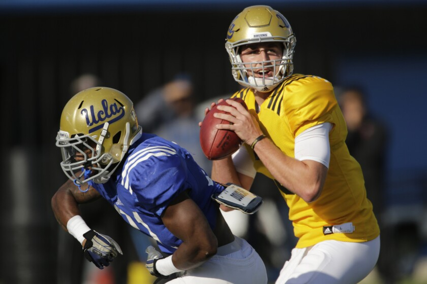 The Bruins announced that freshman Josh Rosen will be their starting quarterback.