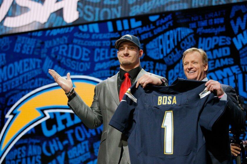 Joey Bosa - (AP Photo/Charles Rex Arbogast)