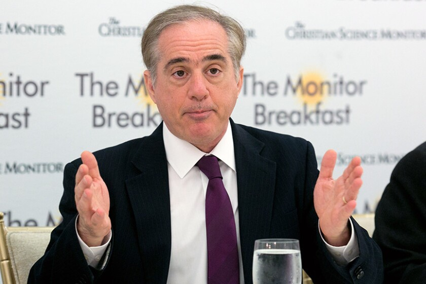 Veterans Affairs Secretary David Shulkin announced plans for veterans healthcare Tuesday.