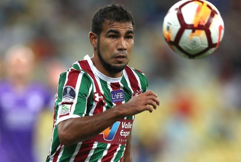 En la imagen, el jugador Junior Sornoza de Fluminense. EFE/Archivo