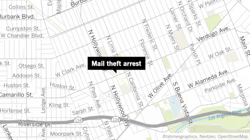 The manager of a Burbank apartment complex reportedly used a BB gun on Friday to detain a woman who had allegedly been stealing mail from the building.