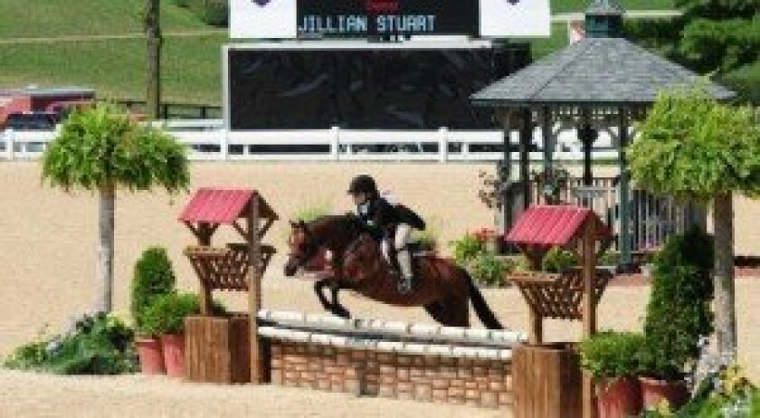 Jillian Stuart competed in the National Pony Finals in Kentucky, finishing 14th overall in her class. Photo/Savannah Stuart