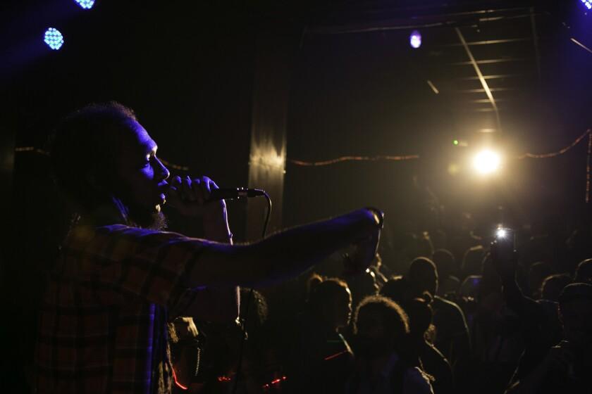 Kumar performing at an underground dance club, Casa Micaela, before the Manana festival.