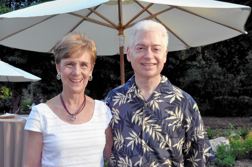 Mindy and Gene Stein, pictured at a Descanso Gardens benefit. The couple donated $1 million to establish the Stein Tikun Olam Infant-Family Mental Health Initiative at Children's Hospital Los Angeles.