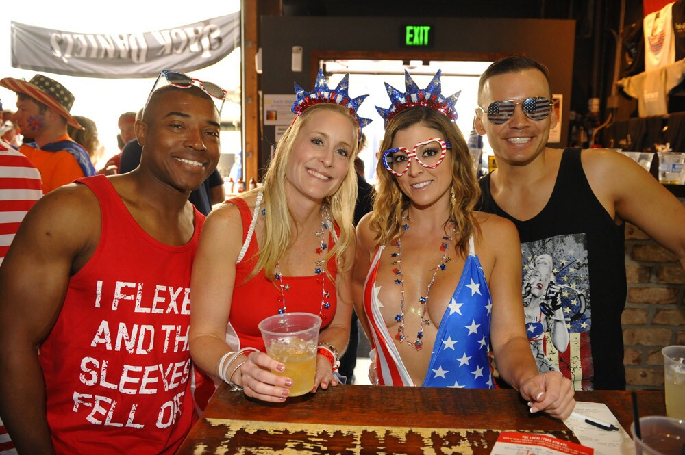 San Diegans saluted 'Merica on Memorial Day Weekend while singing, dancing and crawling their way through downtown San Diego at Sing, Dance, Crawl on Saturday, May 26, 2018.