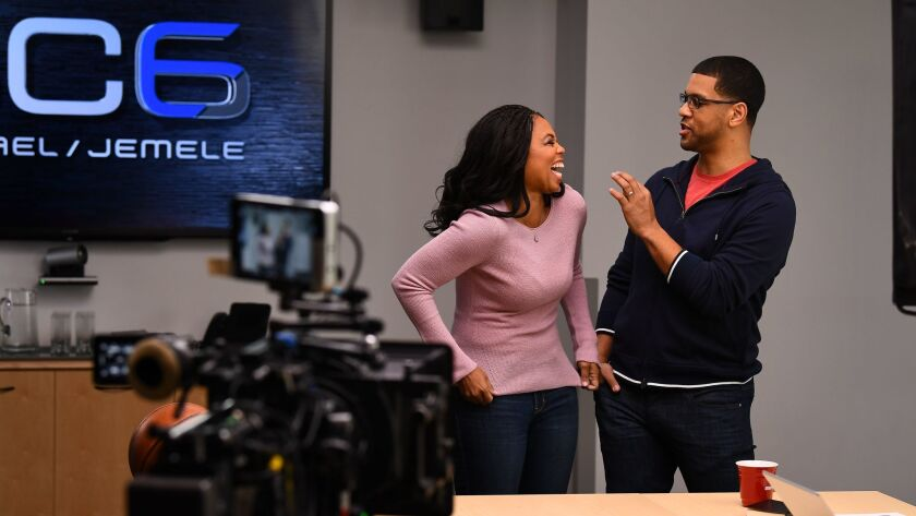 Michael Smith, right, and Jemele Hill.