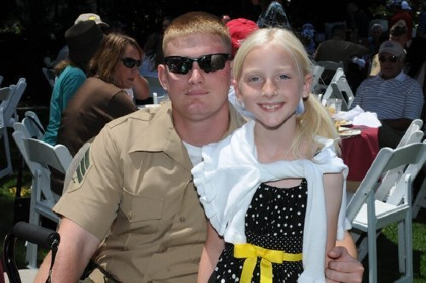 Sgt. Allan Michaels of Rolla, Mo., with Chloe Nicole