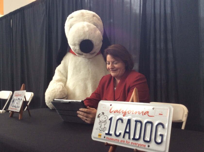 Snoopy and Toni Atkins