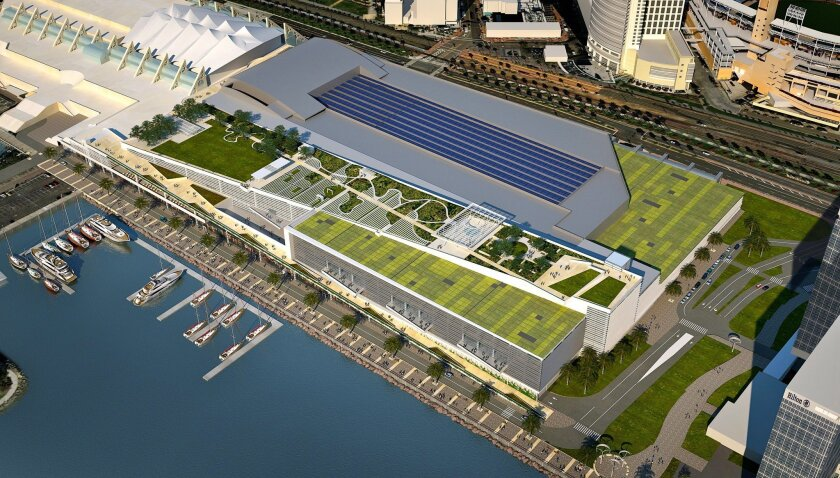 Rendering of proposed expansion of San Diego Convention Center
