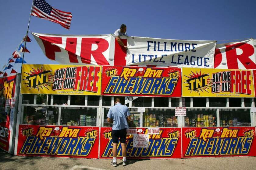 Are Fourth of July fireworks legal in California? Yes, but