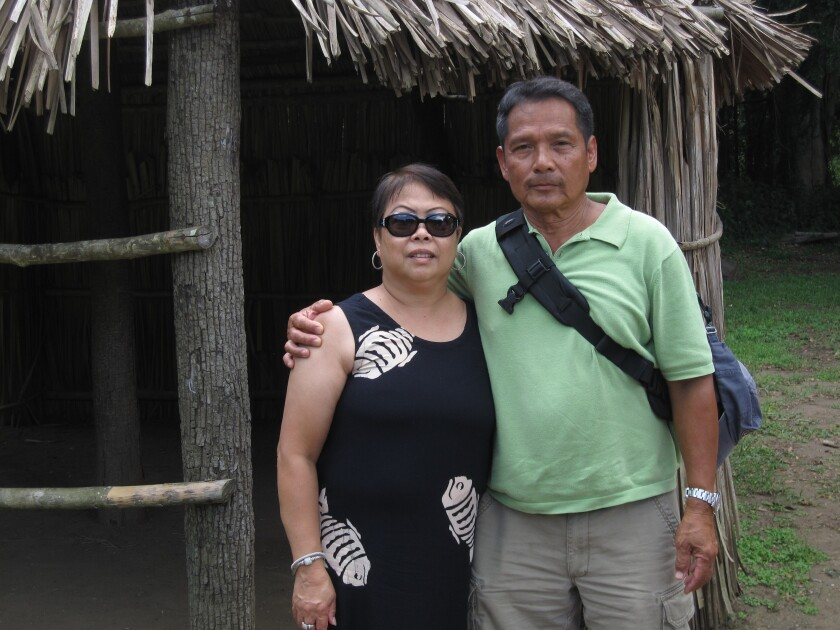 Roddy and Loretta on vacation in the Philippines.