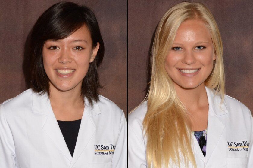 Anne Baldock, left, and Madison Cornwell were medical students at UCSD.