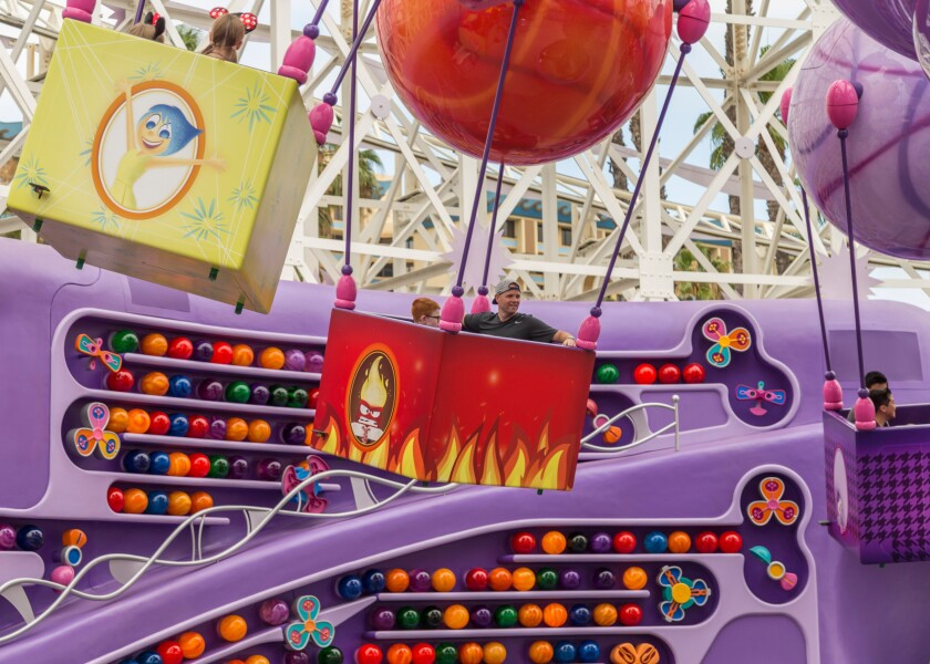 Inside Out Emotional Whirlwind at Disney California Adventure Park