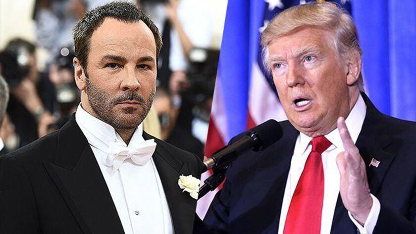 "While addressing designer and filmmaker Tom Ford's comments about the future first lady, President-elect Donald Trump said Thursday at a luncheon in Washington, D.C., that he ""never liked him or his designs."""