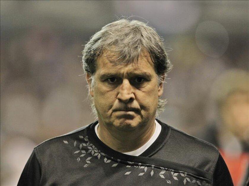 Gerardo Martino, entrenador del Newell's Old Boys, líder de la Liga argentina de fútbol. EFE/Archivo