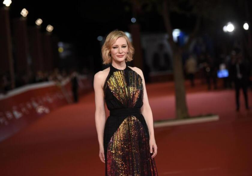 Australian actress Cate Blanchett arrives for the premiere of 'The House With a Clock in Its Walls' at the 13th annual Rome Film Festival, in Rome, Italy. EPA/Claudio Onorati/File