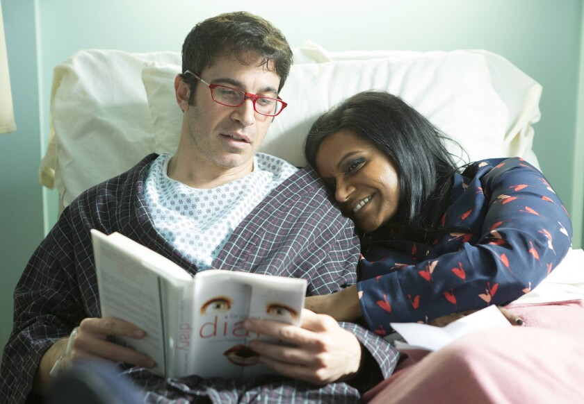 "Danny (Chris Messina) and Mindy (Mindy Kaling) in ""The Mindy Project."""