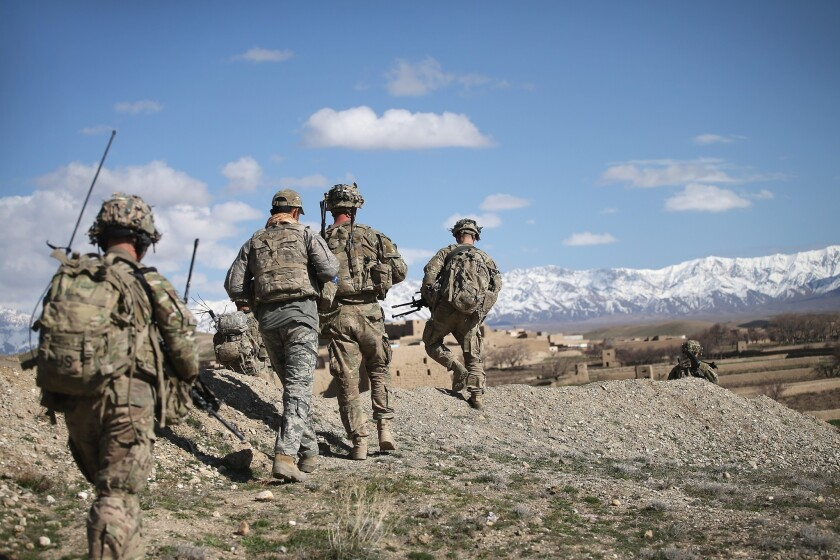 The United States currently has about 13,000 soldiers in Afghanistan.