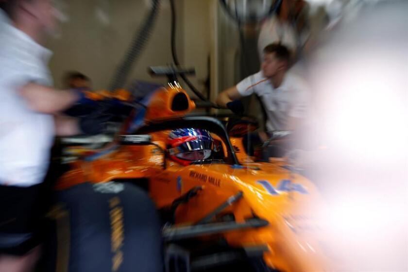 El piloto español de Fórmula Uno Fernando Alonso, del equipo McLaren. EFE/EPA