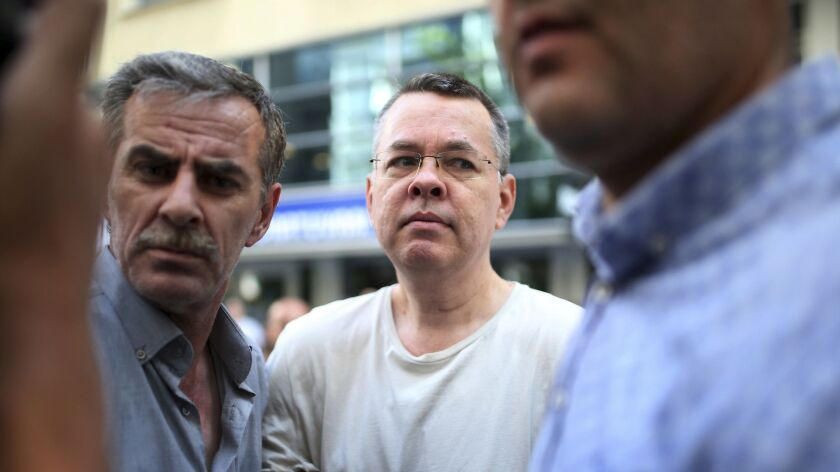 After two years in detention, American pastor Andrew Brunson was allowed to leave Turkey on Friday.