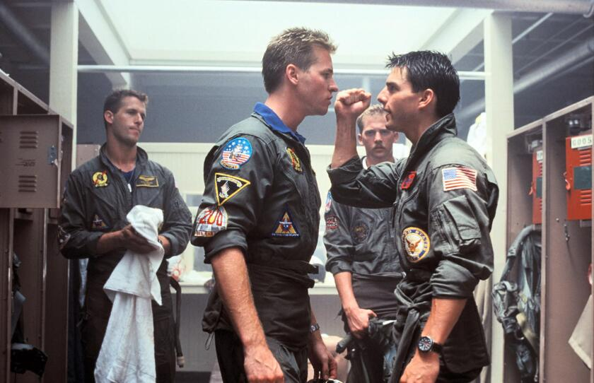 """A scene from the 1986 blockbuster movie, """"Top Gun."""""""
