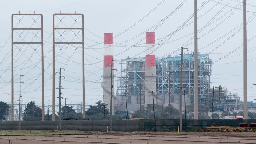 OXNARD, CA - JUNE 07, 2017: The Ormond Beach generating station in Oxnard. The city is trying to de-